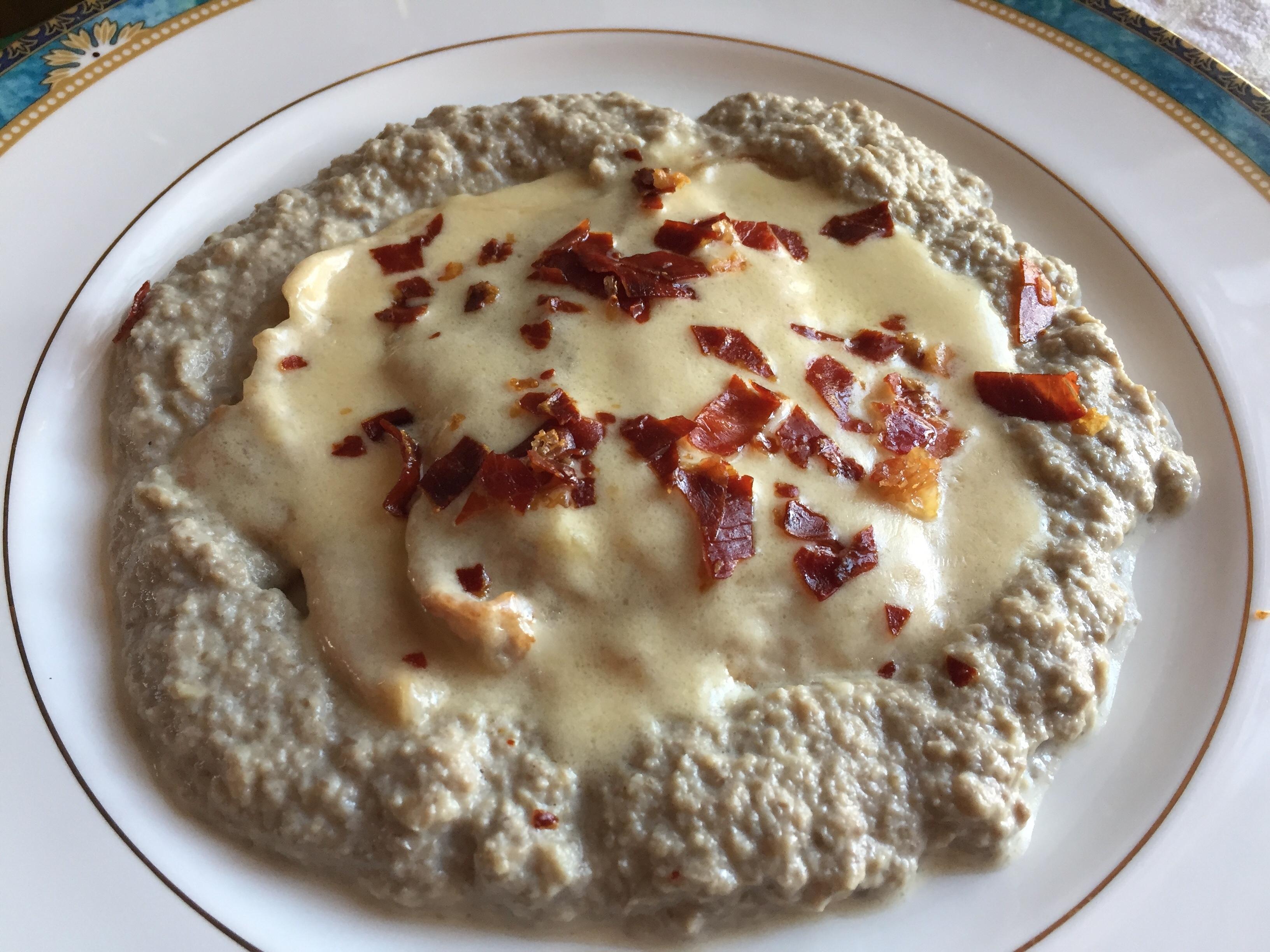 Scaloppine-di-vitello -al-brie-con crema-di-champignon