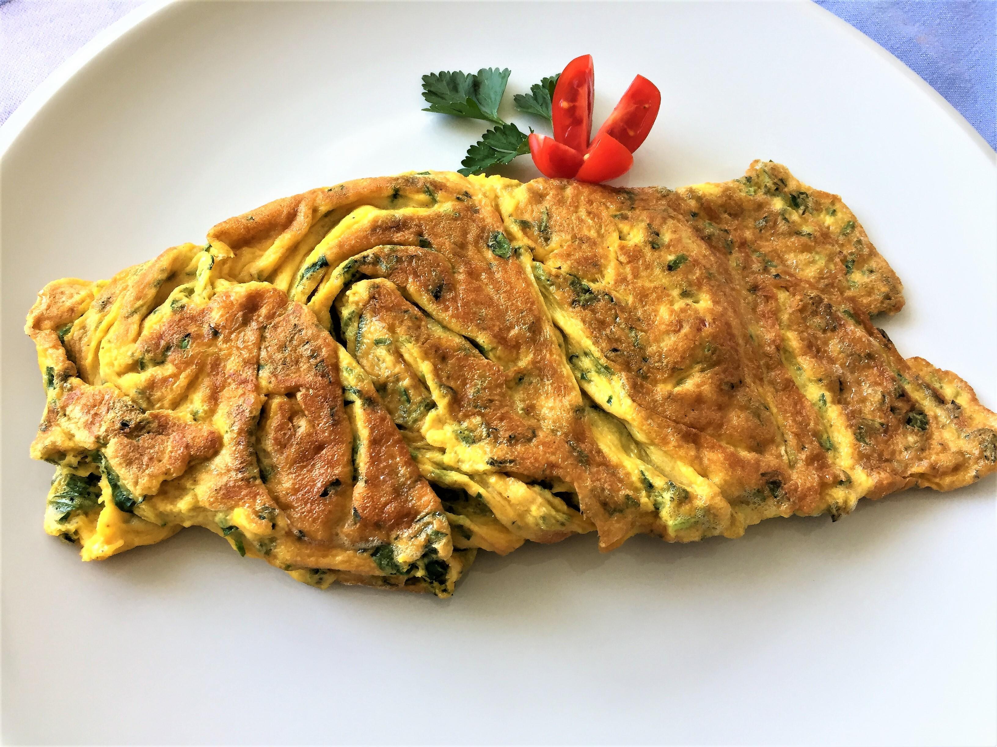 Omelette al silene, ripiena