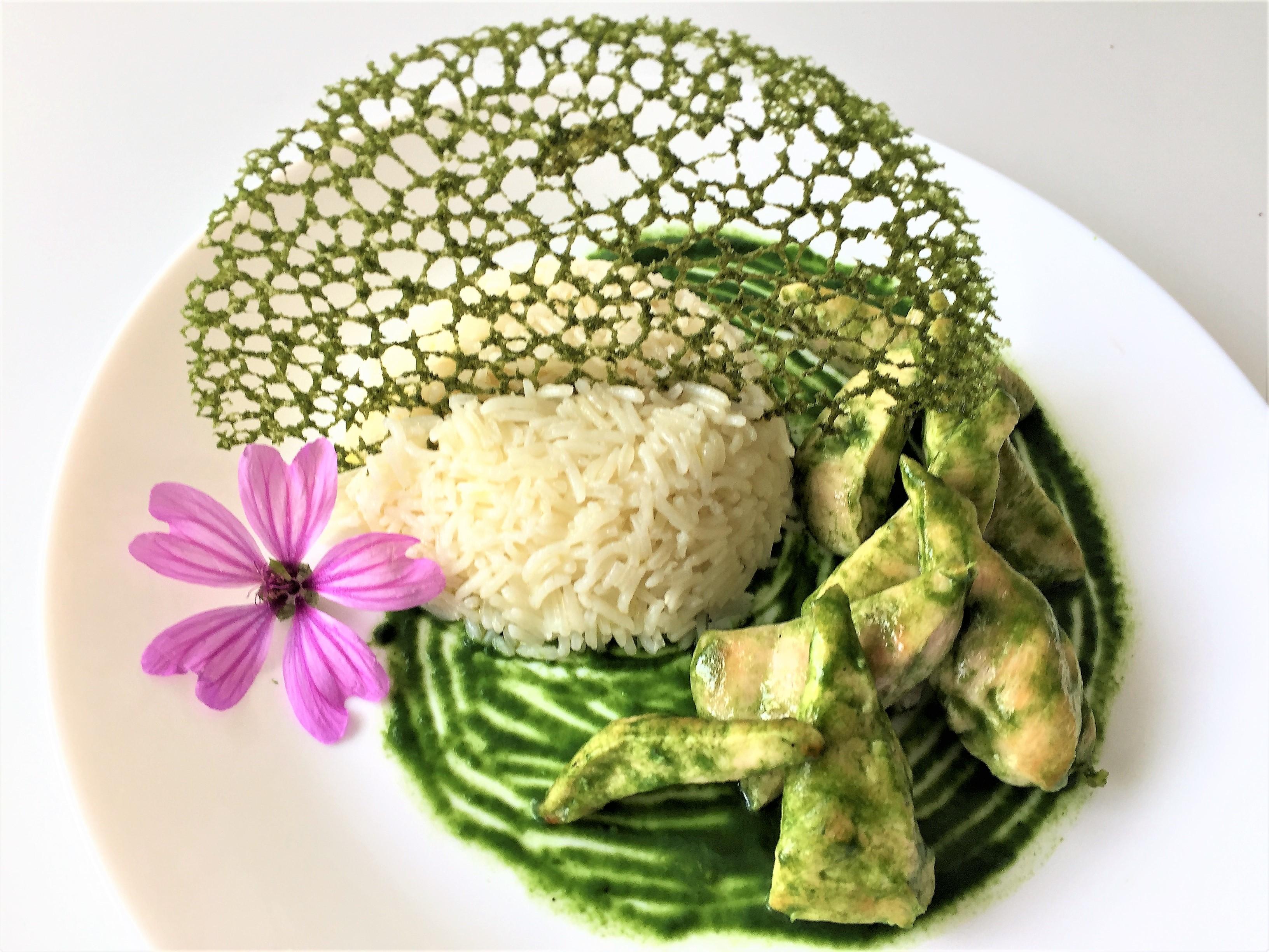 Bocconcini di pollo agli spinaci