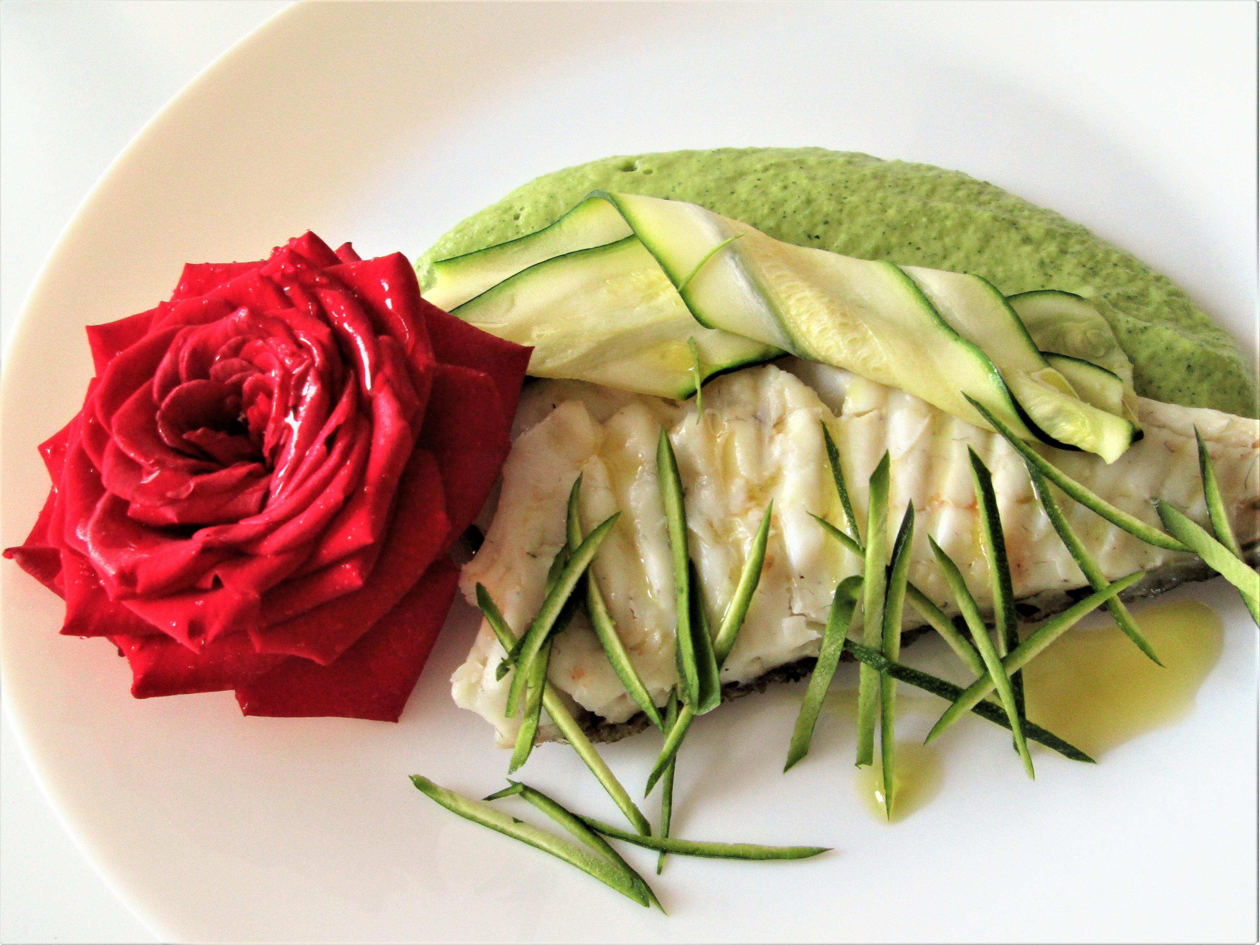 Filetto di rombo alle zucchine