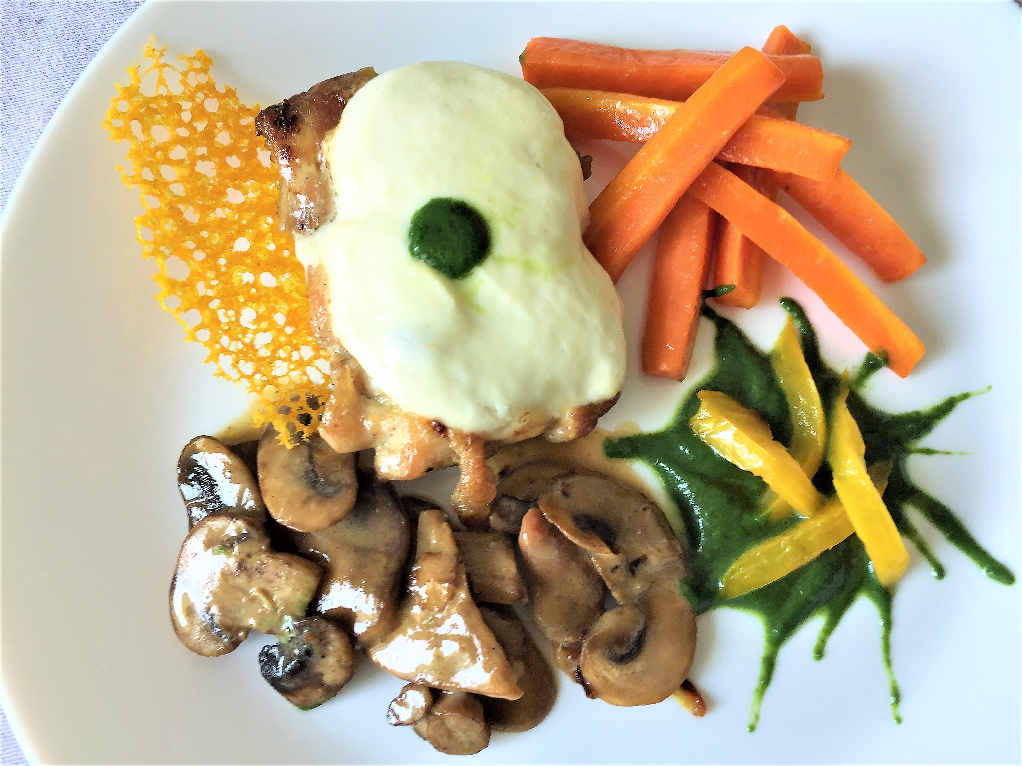 Pollo ai funghi con mozzarella