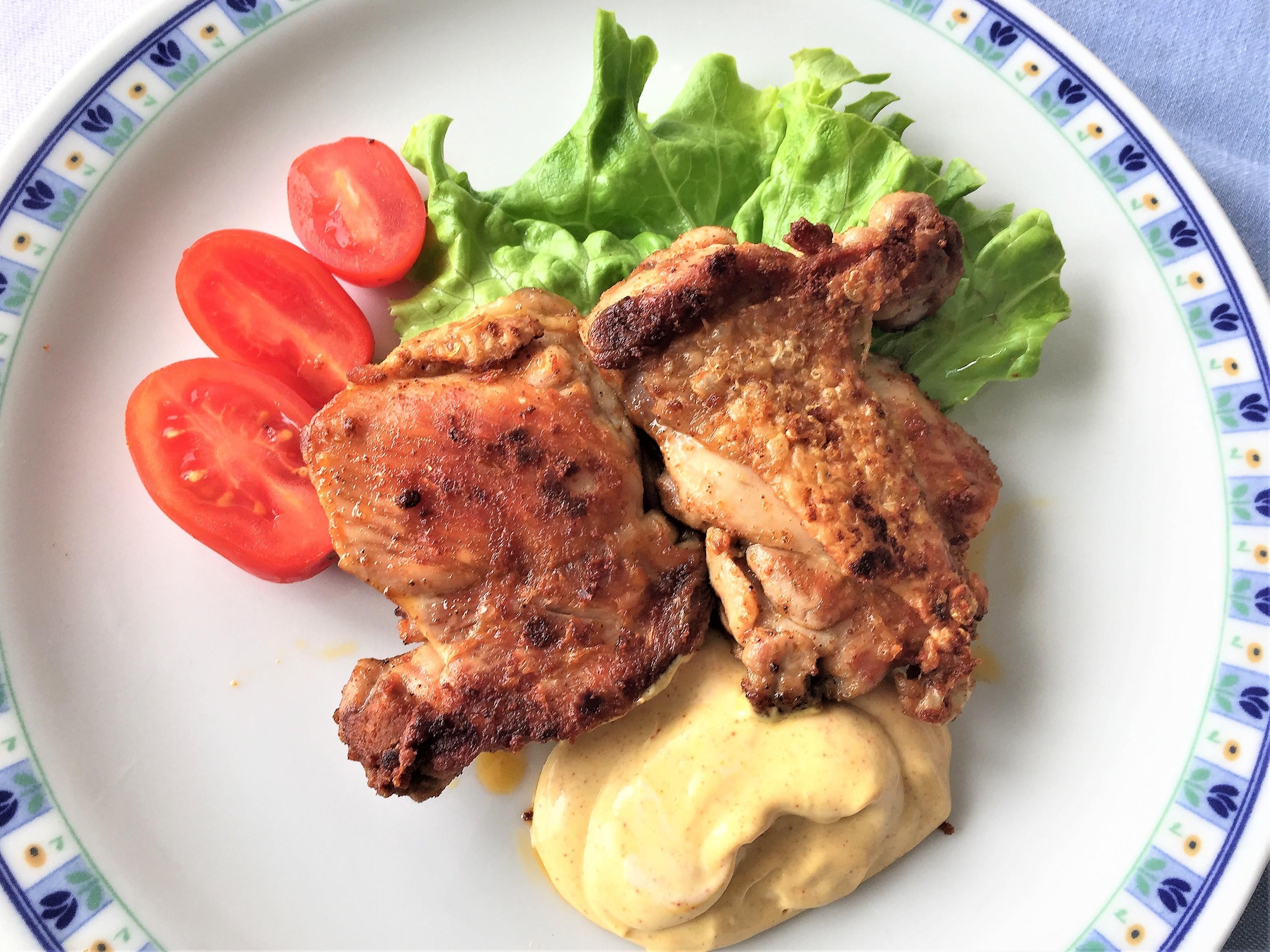 Pollo alla paprika con maionese alla curcuma