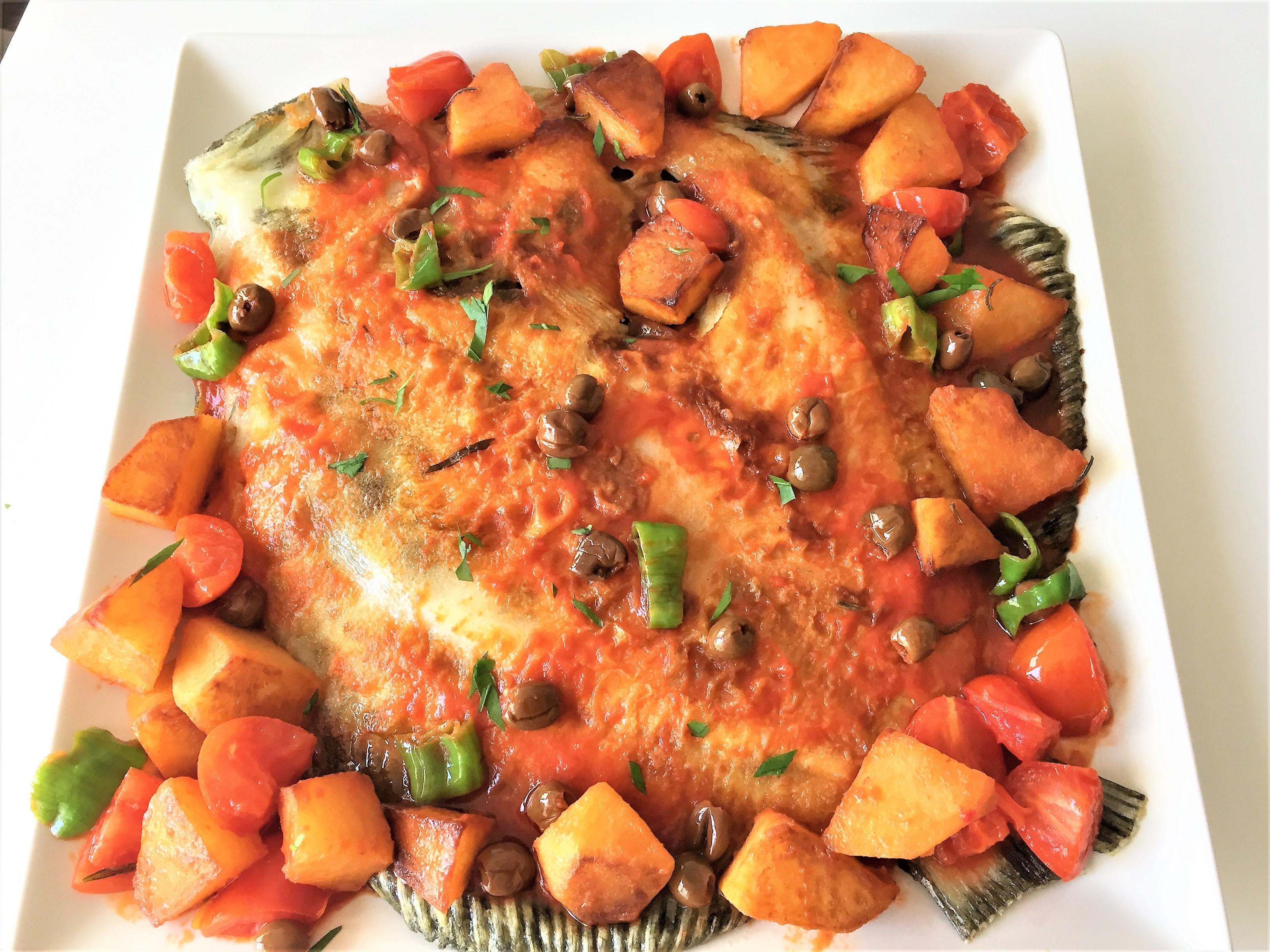 Rombo-al-forno-con-patate-e-olive