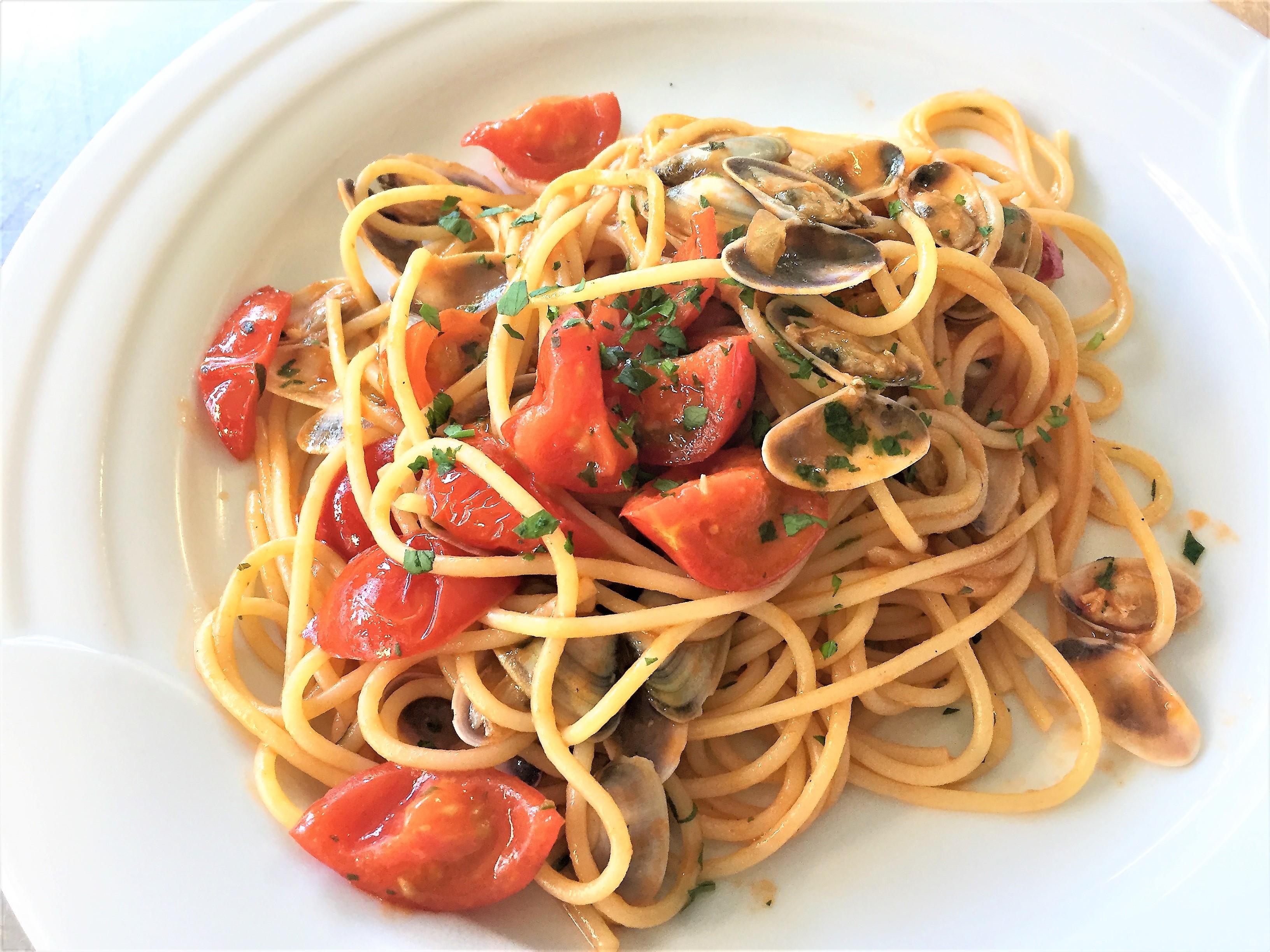 Spaghetti con le telline