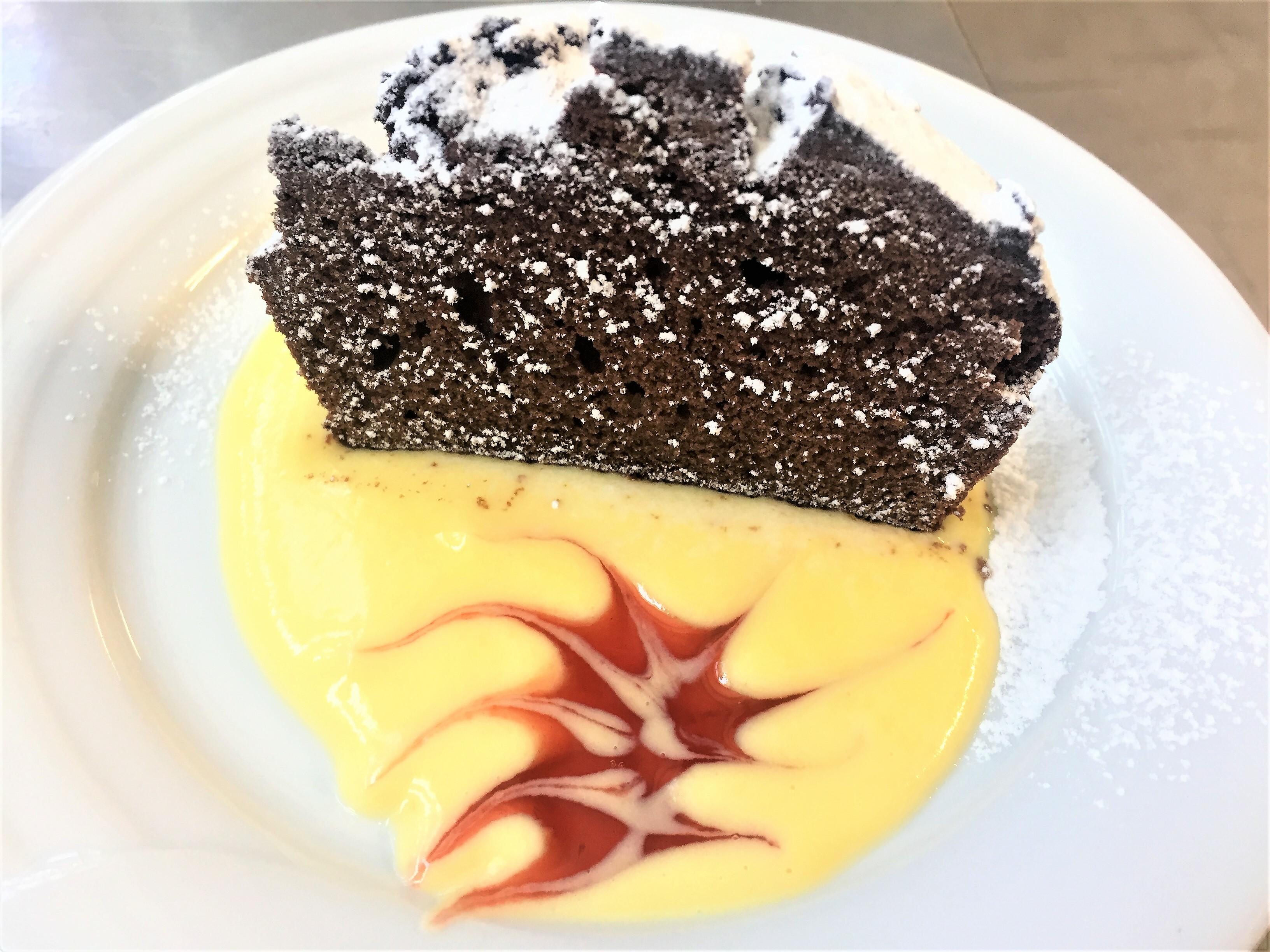 Trancio al cioccolato con crema