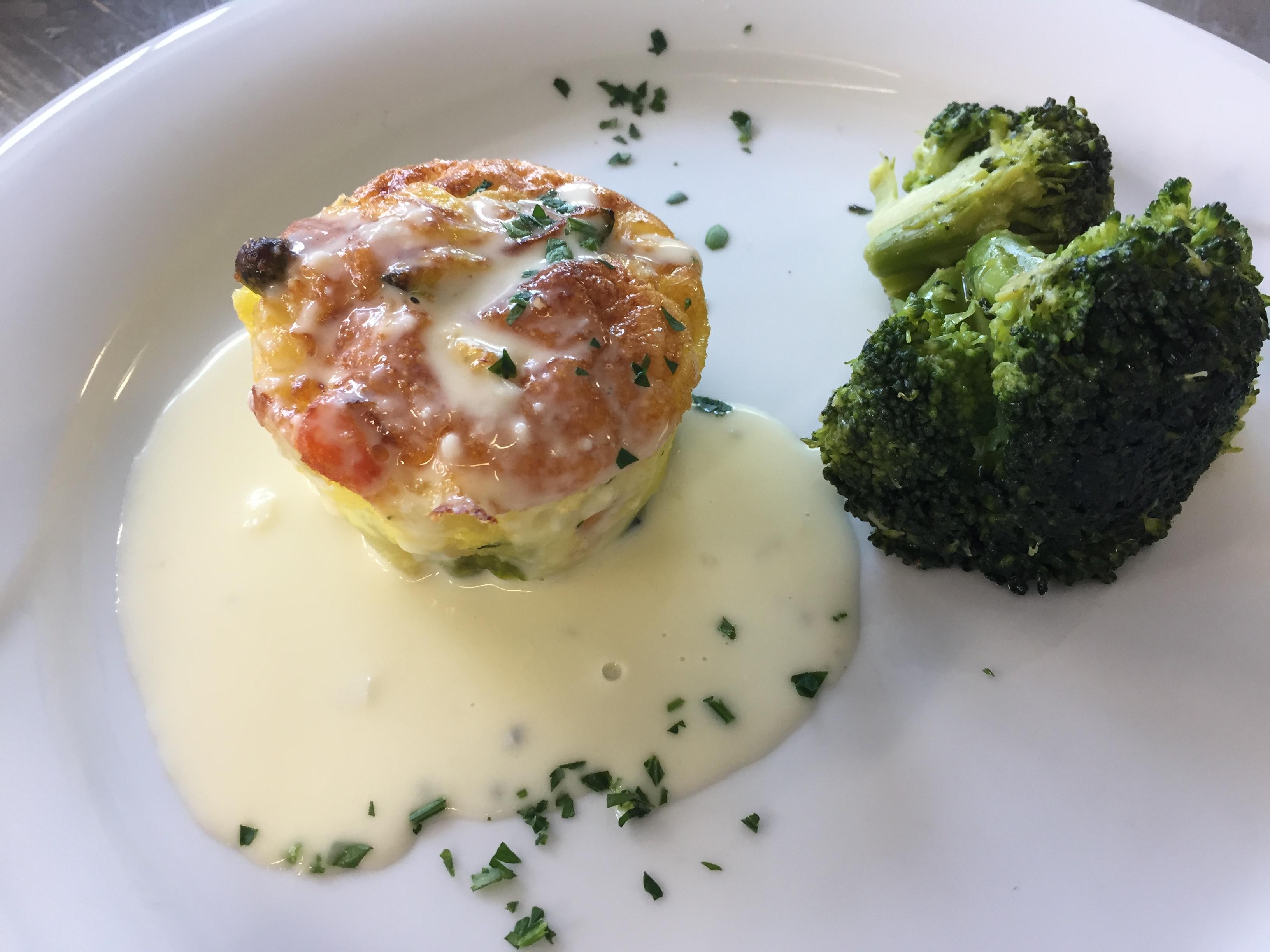 Flan di verdure con salsa di parmigiano reggiano