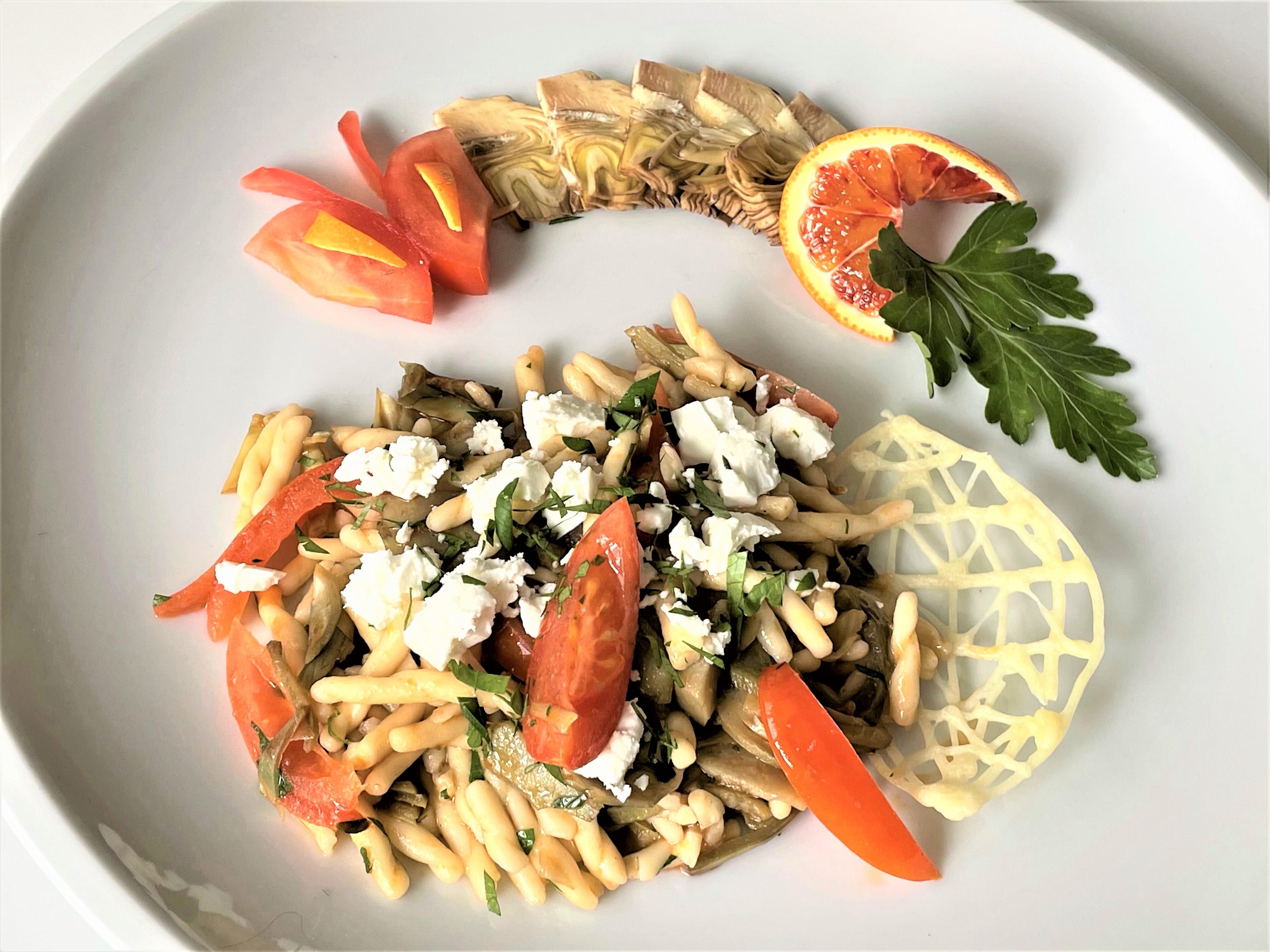 Trofie-con-carciofi-e-ricotta-salata