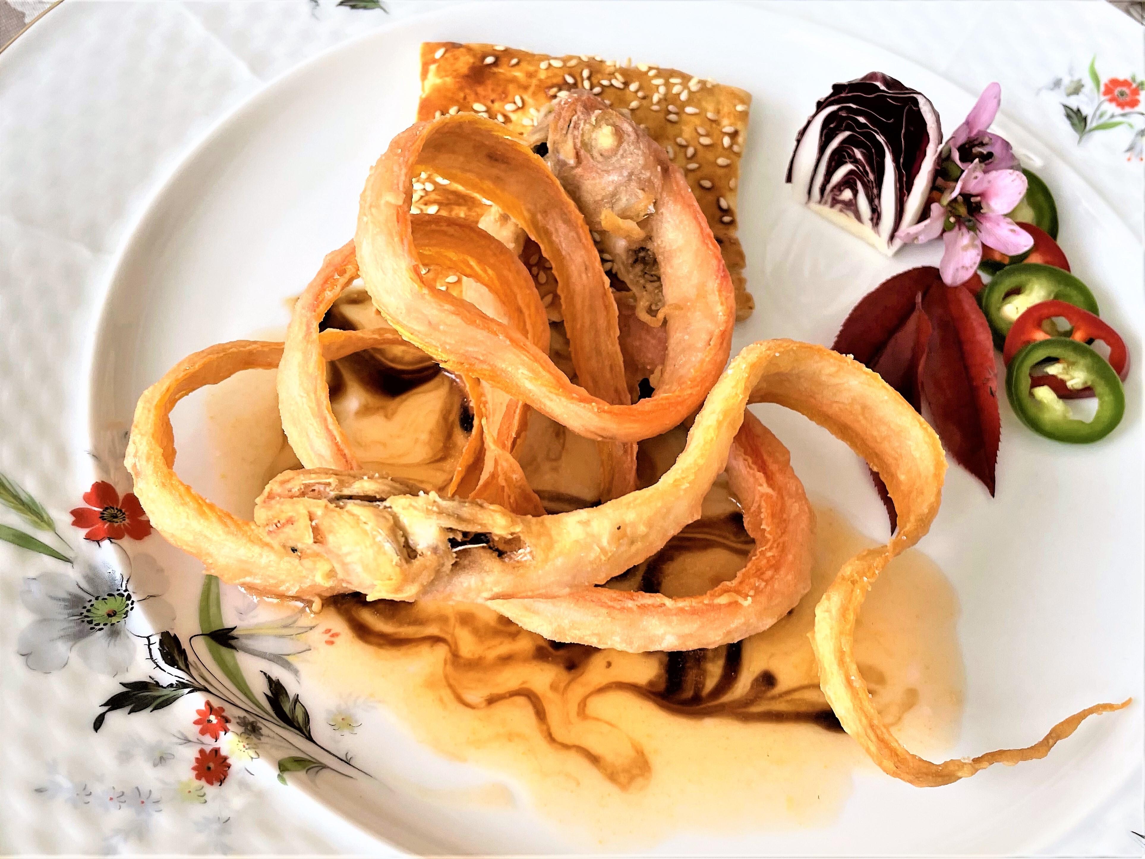 Spade-rosse-con-salsa-di-agrumi-e-glassa-di-aceto-balsamico